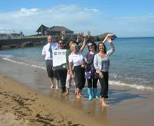 Launch of Explore East Lothian Group Tours at North Berwick beach