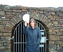 Nenthead Lead Mines - Group Travel Promotion for the North Pennines Heritage Trust - Claire Blake is pictured