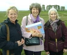 Stonehenge: Hillary Christmas of Norman Allen Group Travel, Blue Badge Guide Judi Cross and Judith Reed